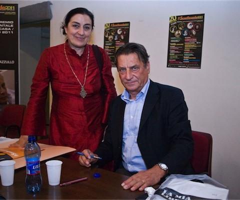 Carmen Bertacchi con Claudio Magris