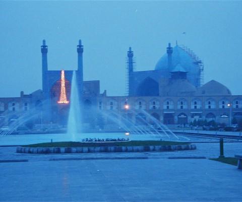 La Moschea azzurra o delle donne nella Grande Piazza a Esfahan