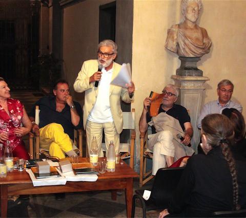 Sarzana - Cerimonia di premiazione dei vincitori Antonio Gnoli e Marco Ferrari